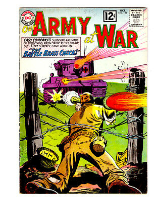 OUR ARMY AT WAR #123 in FN+ grade 1962 DC WAR comic w/ SGT ROCK