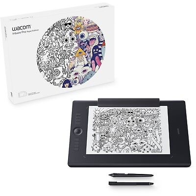 Wacom Intuos Pro Paper Edition Medium Drawing Graphics Tablet Board+Pro Pen 2