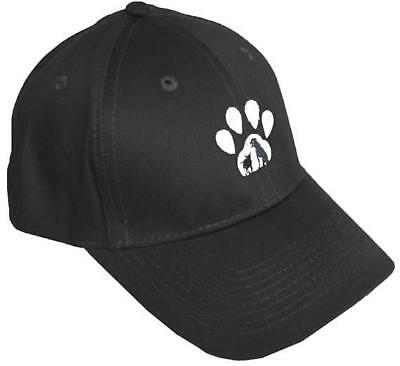 Paw Print Silhouette Hat Black Baseball Cap Monogram New Pet Shelter Adopt Gift