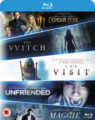 The Witch / Crimson Peak / MAGGIE/ The Visit / Unfriended BLU-RAY NUOVO Blu-Ray