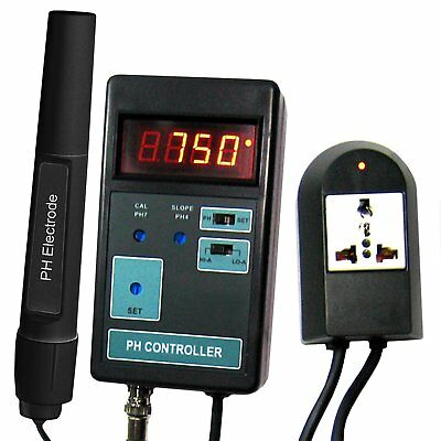 Portable pH CO2 Controller Meter Aquarium 0~14 pH 110V Digital Tester