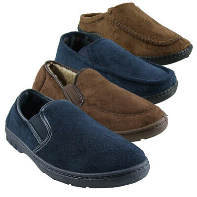 Mens Faux Suede Luxury Classic Slippers Gents Quality Slipper Sizes UK 6-12
