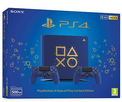 PS4 500GB Days of Play Special Edition Console + 2 DualShock 4 Controllers