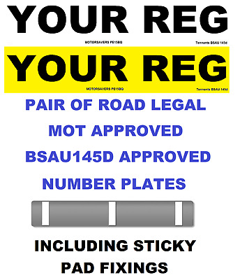 Car Number Plates Gb Euro Front Rear Road Legal Inc Fixing