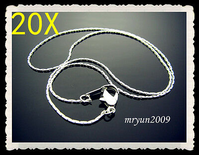 FREE 20pcs Jewelry Claw Chains Silver plated snake chain Necklace With Clasp 16""