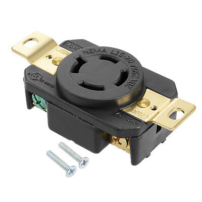 L15-20 Generator Locking Receptacle - 20A 250V, 3P 4W US Plug YUADON Authorized