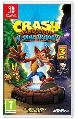Crash Bandicoot N.Sane Trilogy Switch **PRE-ORDER ITEM** Release Date: 29/06/18