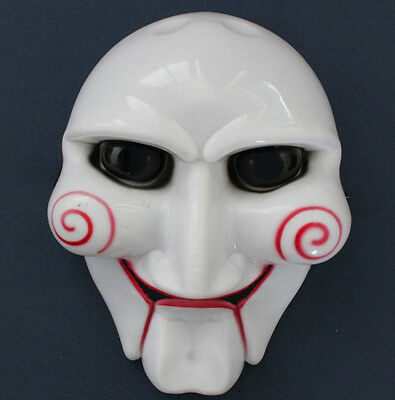 TOP Halloween Party Cosplay Billy Jigsaw Saw Puppet Mask Masquerade Costume Prop