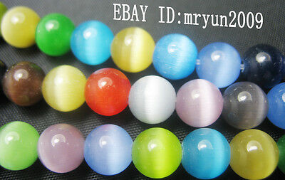 Free NEW 50PCS Jewelry Mixed Opal Round Gemstone Findings Loose Spacer Beads 6MM