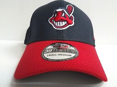 best loved 49e6c 0146f Cleveland Indians Cap New Era 39Thirty Stretch Fit Fitted Hat Diamond  Classic