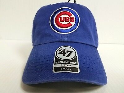 promo code c32d0 c555c Chicago Cubs New Franchise  47 Brand Fitted Cap Unstructured Blue Hat MLB