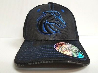 dbe6a52c854 Boise State Broncos Cap Zephyr Stretch Fit Fitted Black Mesh Undertaker Hat