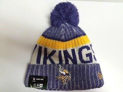 Minnesota Vikings New Era Knit Hat On Field 2017 Sideline Stocking Beanie  Cap 16e8167bf9a