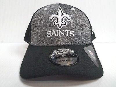 brand new 29723 743ce New Orleans Saints Cap New Era 9Forty Adjustable The League Shadow Hat NFL
