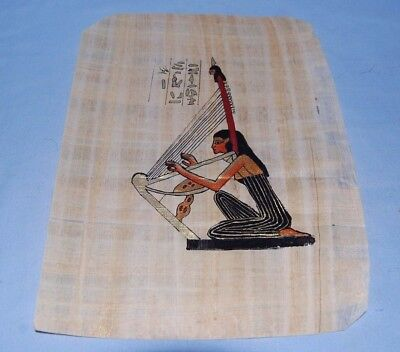 Egyptian Papyrus Genuine Hand Painted Musician