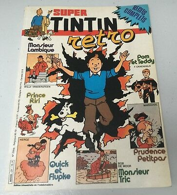 Super TINTIN Rétro n°21 (récits complets) - Lombard 1983 - BE+
