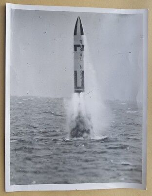 Genuine Photo A Polaris Ballistic Missile Fired From Hms Resolution Prb 4278/1