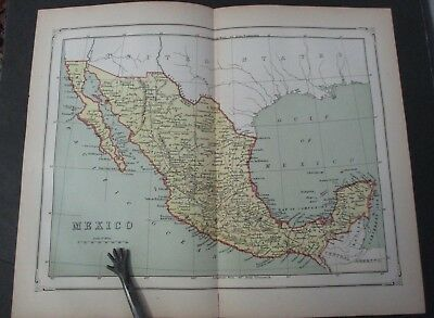 1875 Map Of Mexico