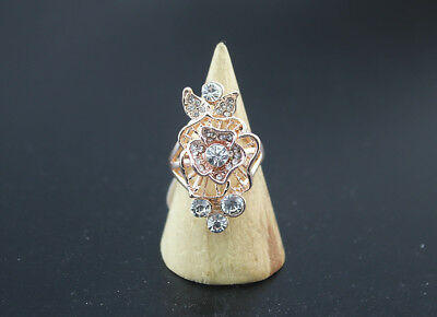 45pcs Wholesale Mixed Lots Trendy Rhinestone Lady's Rings Party Gifts EH608
