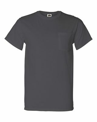 Fruit of the Loom Men's 5 oz. 100% Heavy Cotton HD Pocket T-Shirt 3931P S-3XL
