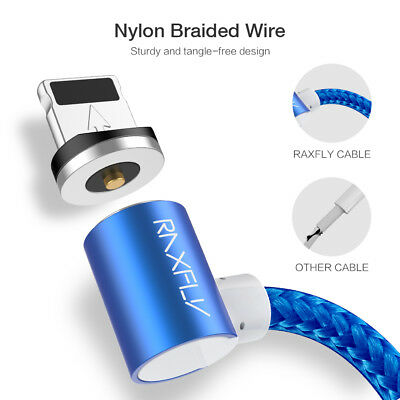 Elbow Magnetic Lightning USB TypeC Charger Charging Cable For iPhone Android