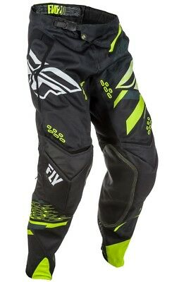 Fly Racing Evolution 2.0 Mens MX Offroad Pants Black/Hi-Vis