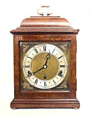 Elliott Striking Bracket Clock Westminster / Whittington Chimes Walnut, Serviced