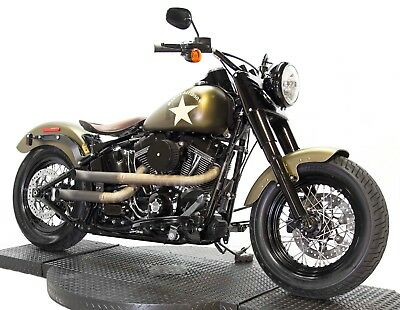 "2016 Harley-Davidson Softail  2016 110"" Screamin Eagle Harley Davidson Softail Slim S FLSS Custom Army Design"
