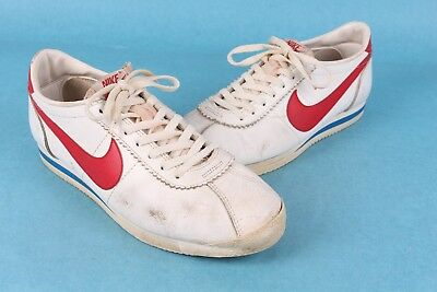 Vtg 70S 80S Nike Leather Cortez Red/white/blue Made In Usa Mens Size 9.5