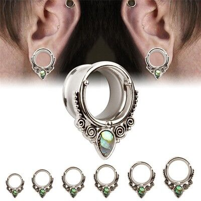 Stainless Steel Shell Screw Ear Gauges Flesh Tunnels Plugs Stretchers Expander