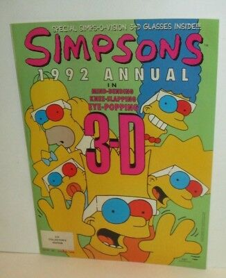 The Simpsons Tv Show 1992 Annual 3-D Collectors Edition Comic Magazine