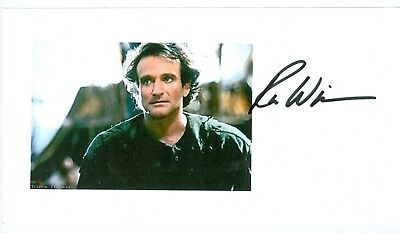 Robin Williams comedian actor autographed small color photo hand signed