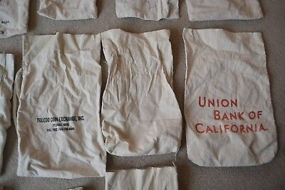 Vintage Cloth Bank Bag for Coins-Various Banks & sizes**Low Price