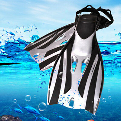 1 Pair Adjustable No-slip Ergonomics Swim Fins Flippers Snorkel Training Diving
