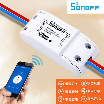 Sonoff Wifi Switch Relay Module AC 90V-250V 220V Wireless Light Timer Switch