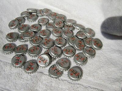 Sprite by Coca Cola used metal caps, plastic liners lot of 46