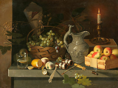 Ivan Khrutsky Still-life with a candle Giclee Canvas Print