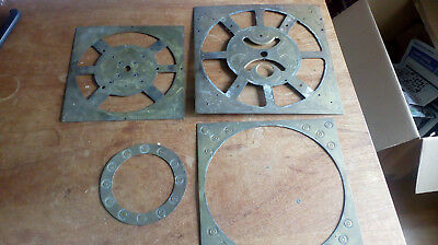 "4 x Clock Dial Faces 12"", 11"" & 9.5"" sq plus 6.25"" dia"