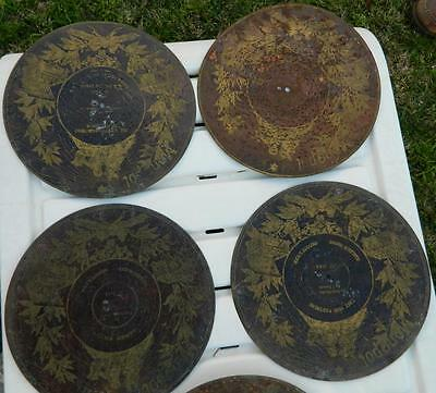 VINTAGE Antique 19th Century 12 Rare Monopol German Music Box Discs/Records