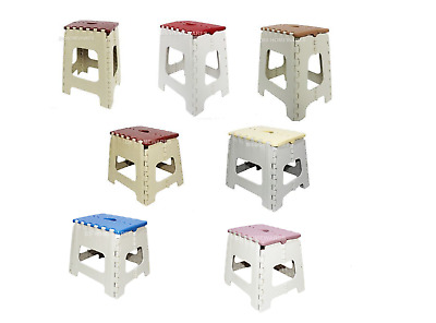 Plastic Multipurpose Folding Step Stools Easy Storage Foldable Carry Ladders