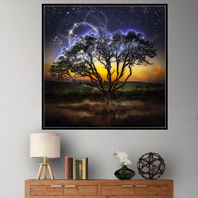 5d diy full drill night field tree diamond painting embroidery home decor ESUS