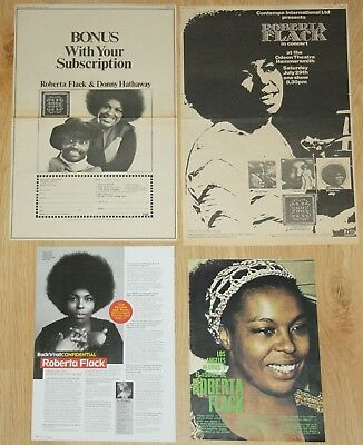 ROBERTA FLACK clippings 1970s photos magazine articles music ads Soul