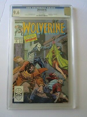 1989 Wolverine # 4 Graded By Cgc 9.6, 1St App. Of Bloodsport & Roughouse