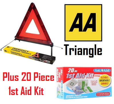 SUMMIT EEC Approved Car Warning Triangle & 20 Piece First Aid Kit