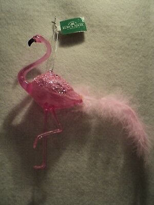 "Ksa ""translucent Acrylic Pink Flamingo Ornament"" ~ New ~ Cute!!!!!!!"