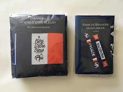 Kit Supporter Equipe France Coupe Monde 2018 Russie Drapeau + 2 Bangers Gonflabe
