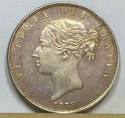 Great Britain Half Crown 1878 Extremely Fine NO RESERVE