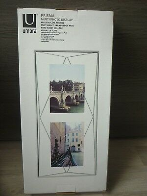 Fotorahmen Glas Umbra Photo Display Prisma Bilderrahmen Vertikal Metall Chrom