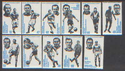 1970-1971 Sun Soccer Stamps England Star Players. Unmounted Mint.