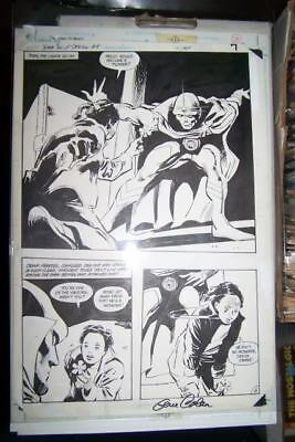 JEMM SON OF SATURN #4 Original COMIC ART by Gene Colan SIGNED 1985 DC